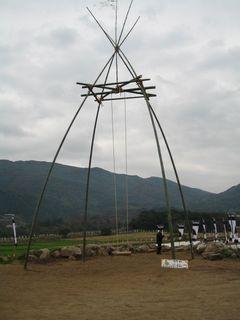 竹のブランコ1