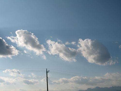 寒空の中の雲